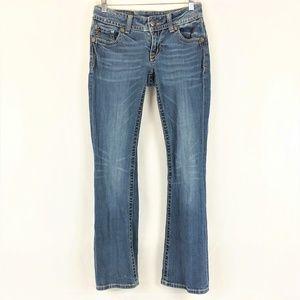 Miss Me Embellished Pocket Low Rise Bootcut Jeans